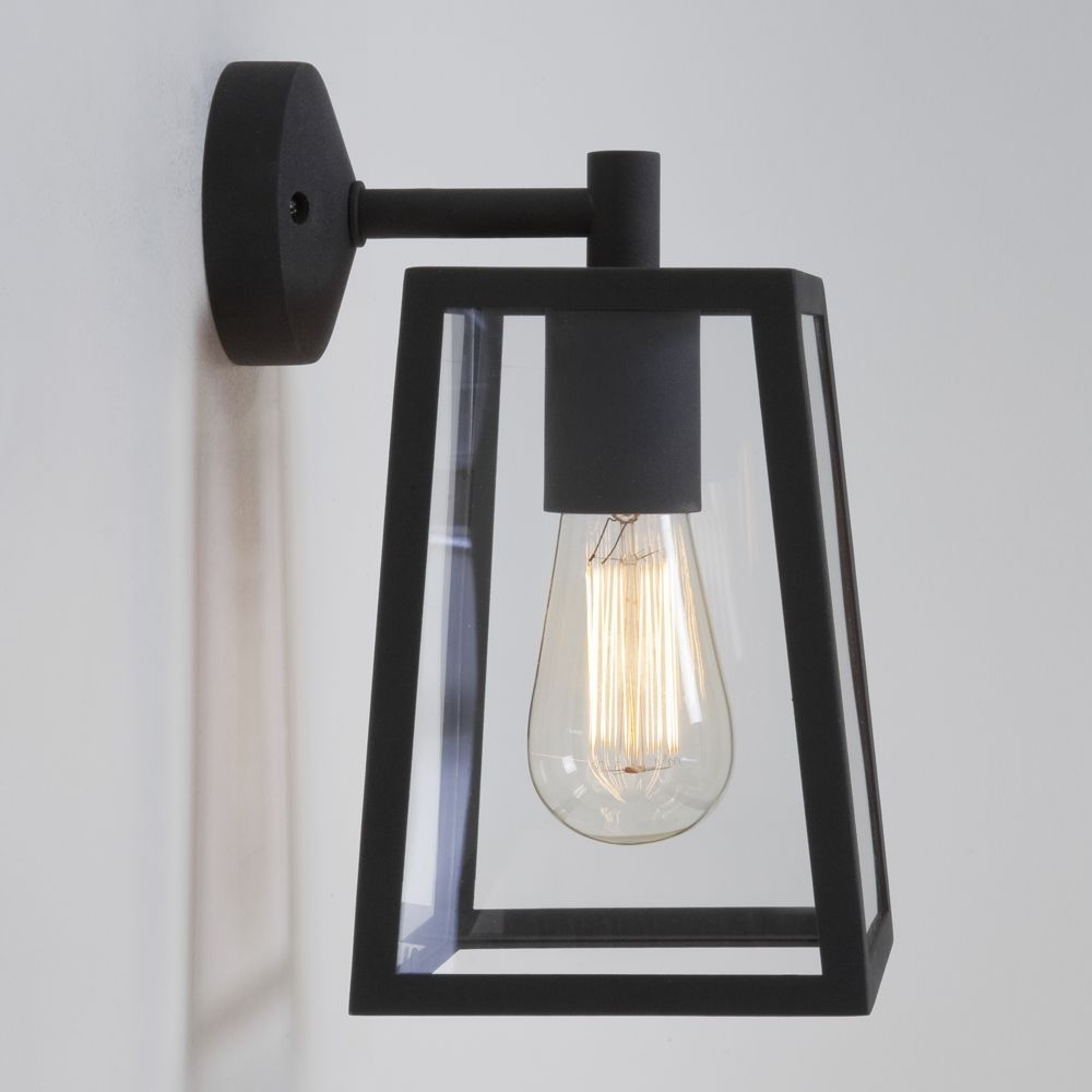 The Calvi Black Exterior Wall Light Is Finished In Steel (#13 of 15)