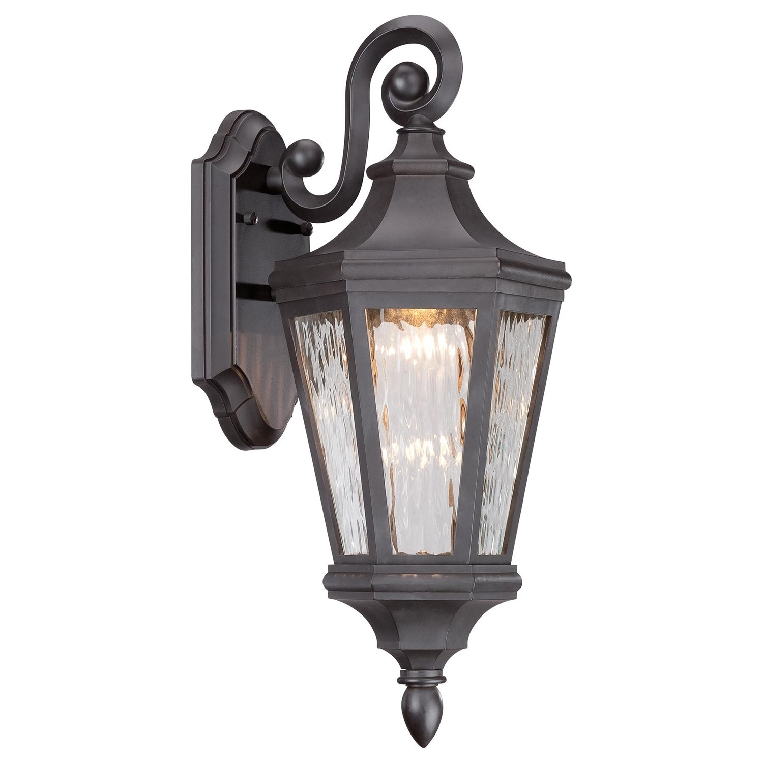 Inspiration about The Great Outdoors 71821 143 L Hanford Pointe 19 H 1 Light Led Within Oil Rubbed Bronze Outdoor Wall Lights (#9 of 15)