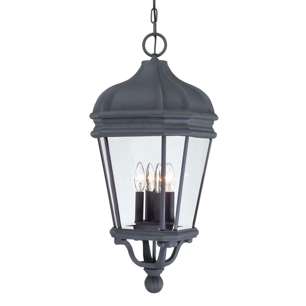 Inspiration about The Great Outdoorsminka Lavery Harrison Black 4 Light Hanging Throughout Indoor Outdoor Hanging Lights (#6 of 15)