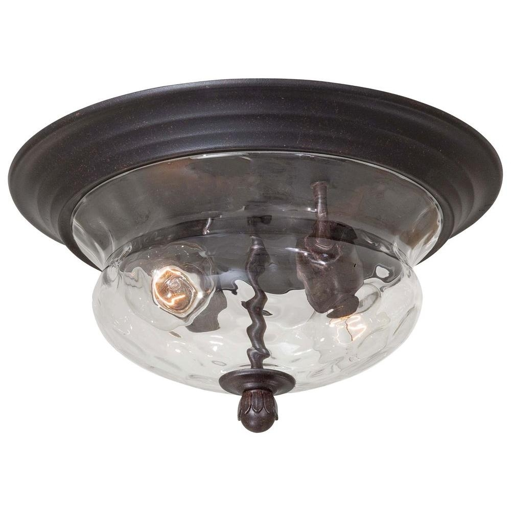 The Great Outdoorsminka Lavery Merrimack 2 Light Corona Bronze In Outdoor Semi Flush Ceiling Lights (View 9 of 15)