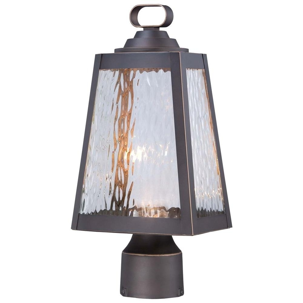 The Great Outdoorsminka Lavery Talera Led 1 Light Oil Rubbed In Wayfair Led Post Lights (#14 of 15)