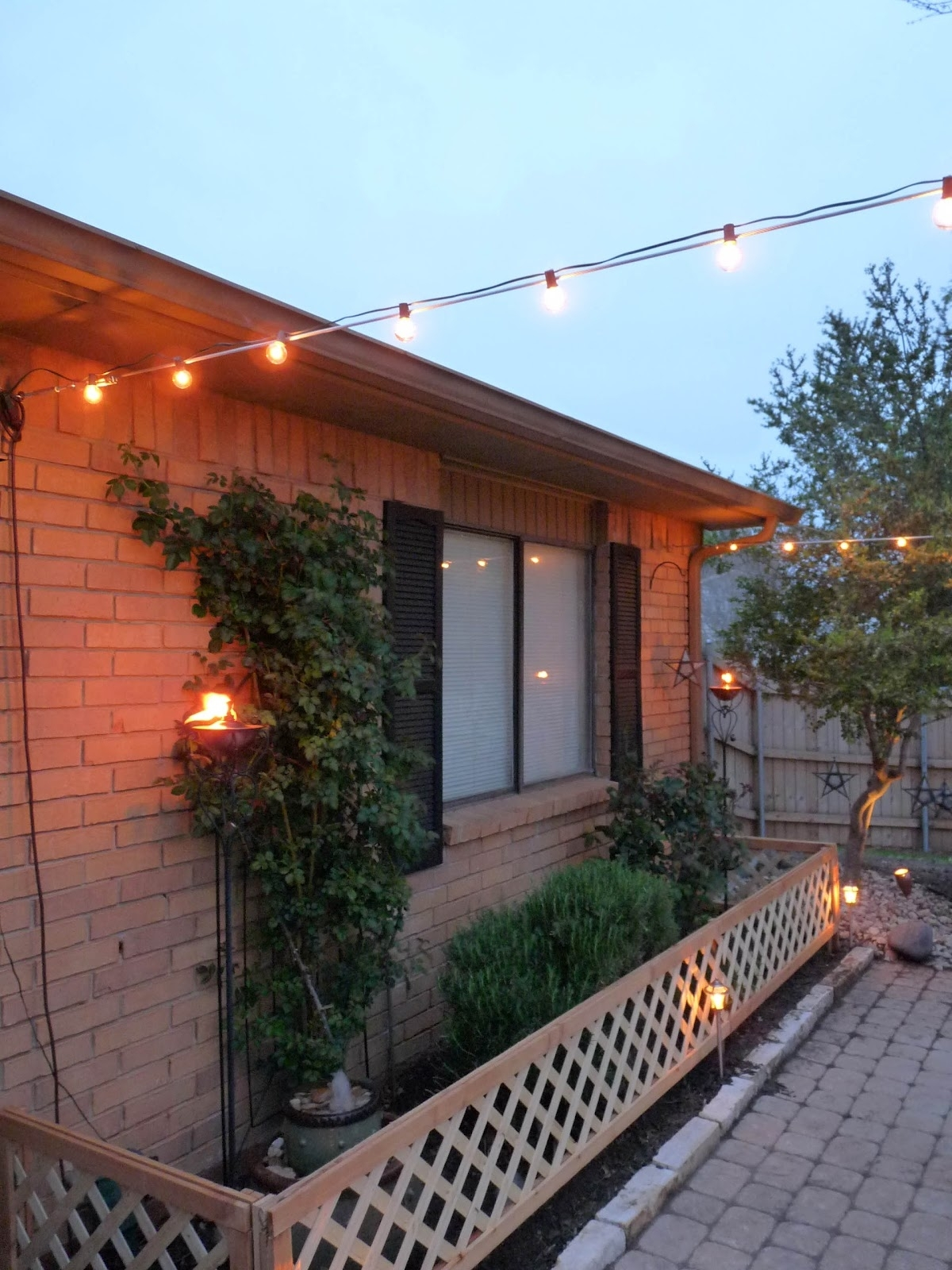 Inspiration about The Happy Homebodies: Diy: Stringing Patio Cafe Lights Inside Hanging Outdoor Lights On Wire (#7 of 15)