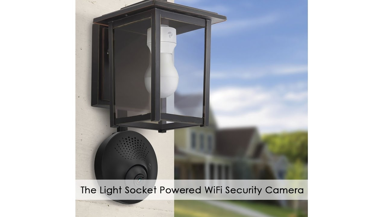 Inspiration about The Light Socket Powered Wifi Security Camera – Youtube For Outdoor Wall Lights With Security Camera (#2 of 15)