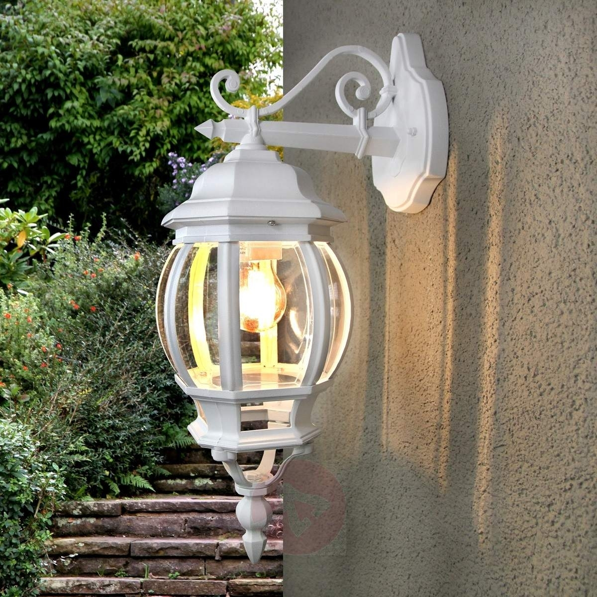 Inspiration about Theodor Outside Wall Light White | Lights.co.uk With White Outdoor Wall Lighting (#5 of 15)