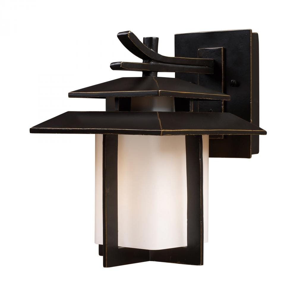 Inspiration about This Bronze Wall Lantern From Elk Lighting Is A Great Way To Try An Intended For Asian Outdoor Wall Lighting (#3 of 15)