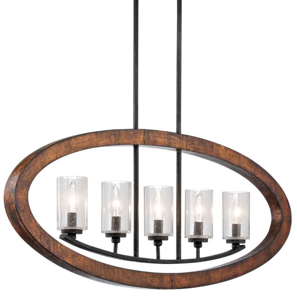 This Vertical Chandelier From Kichler Is Warm And Rusticwith A Within Contemporary Rustic Outdoor Lighting At Wayfair (#15 of 15)