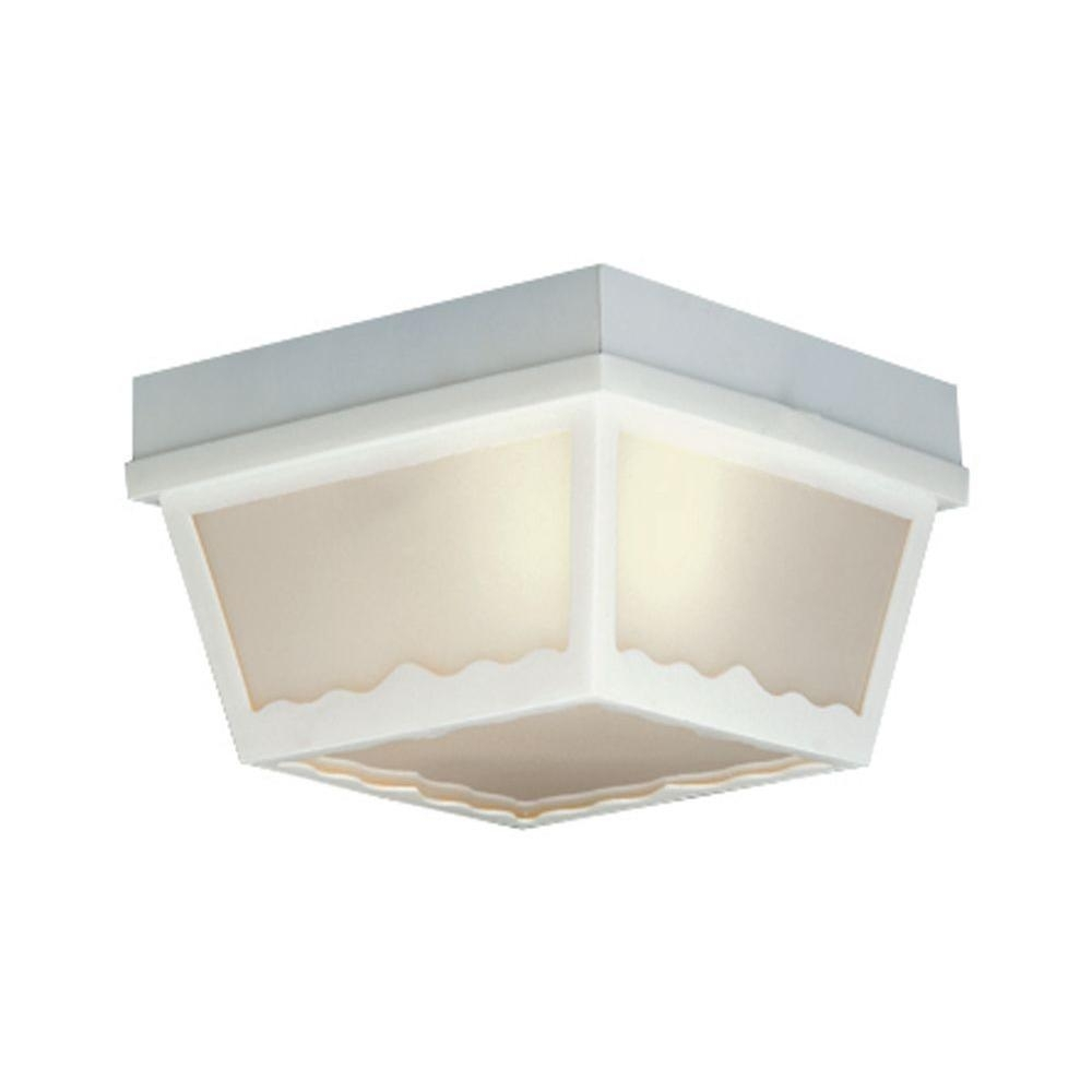 Inspiration about Thomas Lighting 1 Light Matte White Outdoor Ceiling Flush Mount Inside Plastic Outdoor Ceiling Lights (#1 of 15)