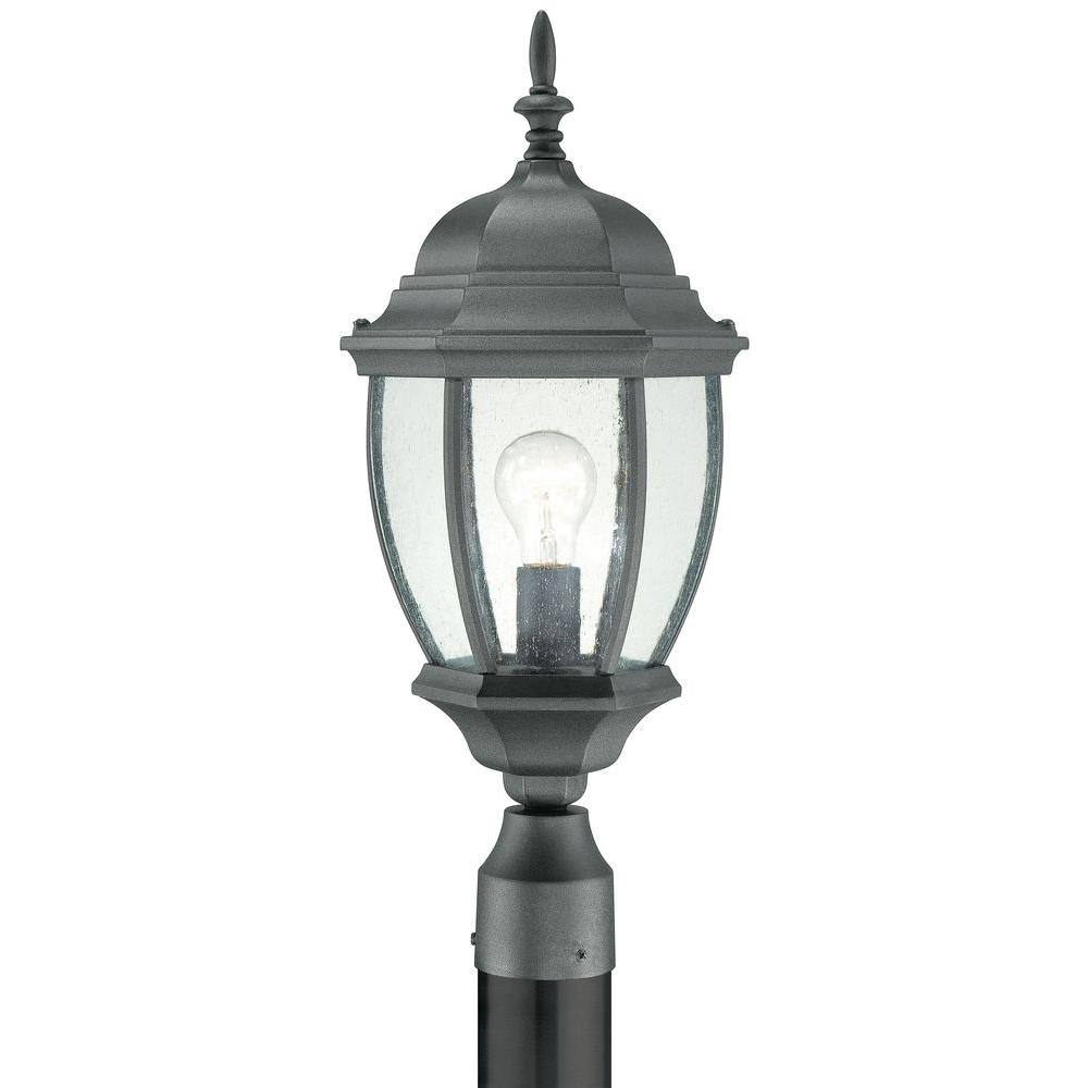 Inspiration about Thomas Lighting Covington 1 Light Outdoor Black Post Lantern Sl90107 For Wayfair Led Post Lights (#6 of 15)