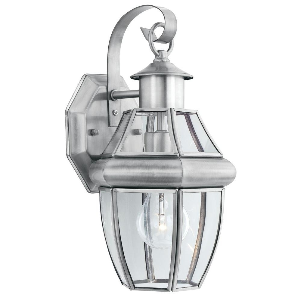 Inspiration about Thomas Lighting Heritage 1 Light Brushed Nickel Outdoor Wall Mount For Nickel Outdoor Wall Lighting (#9 of 15)