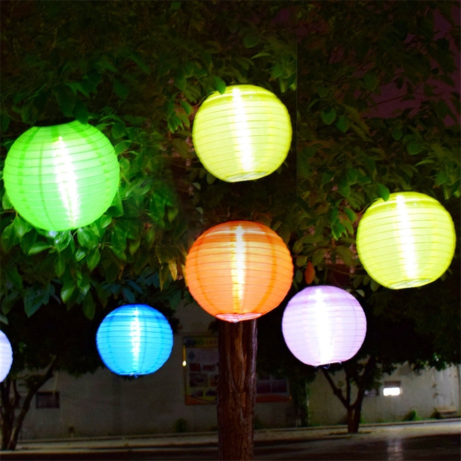 Inspiration about Thrisdar 5Pcs D30Cm Big Lantern Ball Outdoor Solar Hanging Lamps Throughout Outdoor Hanging Globe Lanterns (#15 of 15)