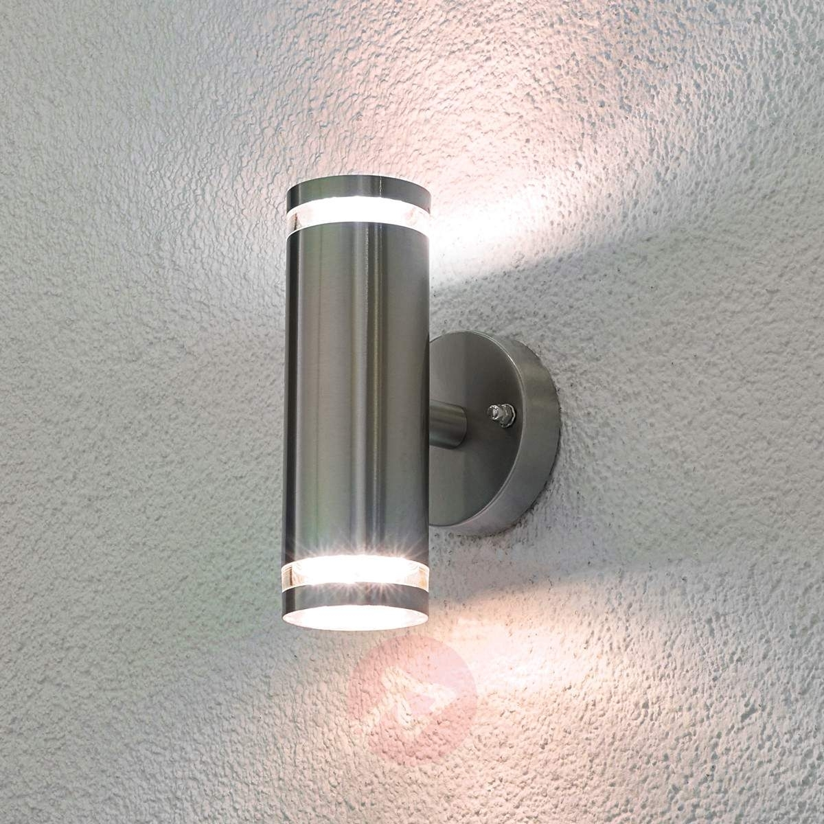 Tiberus Stainless Steel Led Outdoor Wall Light | Lights.co (#14 of 15)