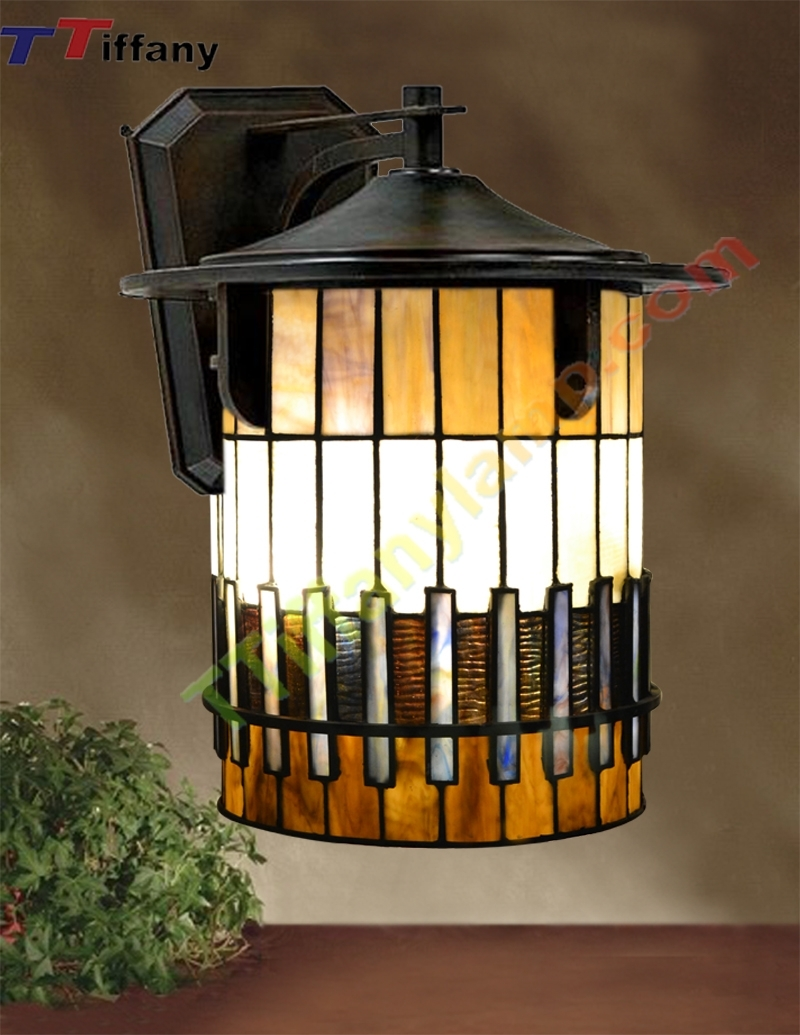 Inspiration about Tiffany Autumn Ridge Outdoor Small Wall Lantern W00901 – Tiffany Throughout Stained Glass Outdoor Wall Lights (#1 of 15)