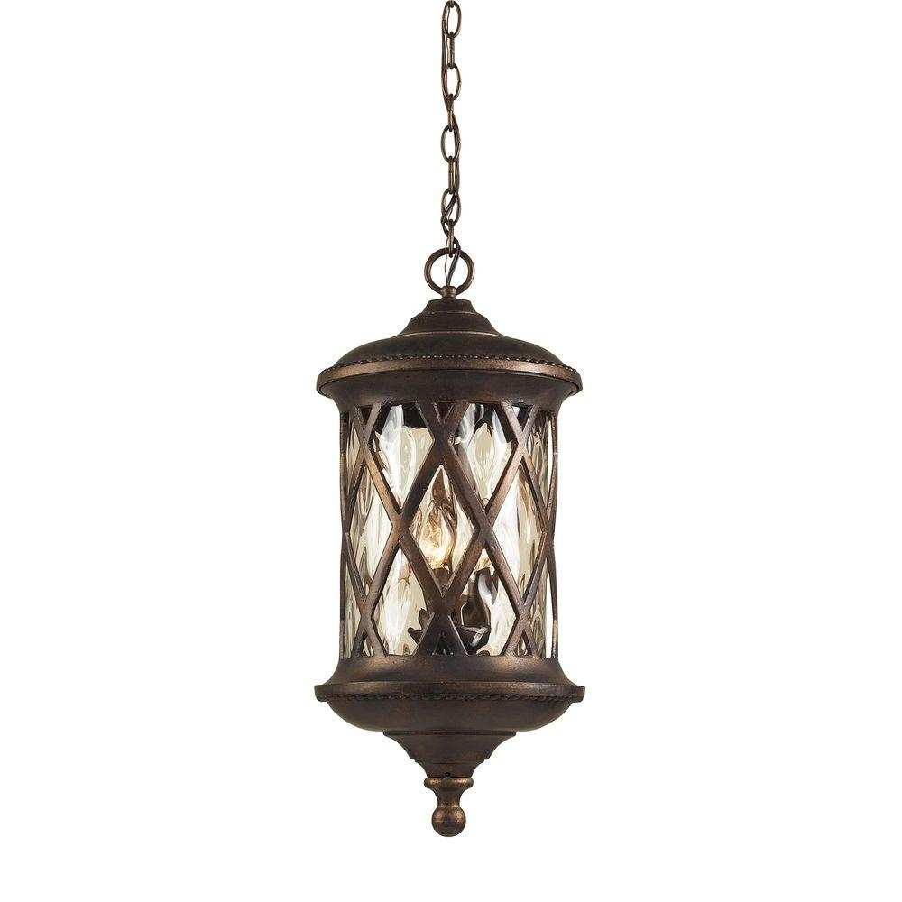 Titan Lighting Barrington Gate 3 Light Hazelnut Bronze Outdoor Within Outdoor Hanging Lamps Online (#15 of 15)