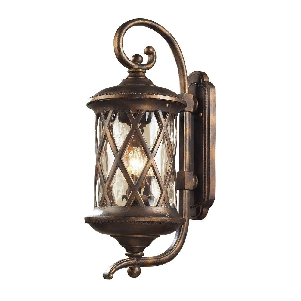 Inspiration about Titan Lighting Barrington Gate Wall Mount 3 Light Outdoor Hazelnut With High End Outdoor Wall Lighting (#13 of 15)