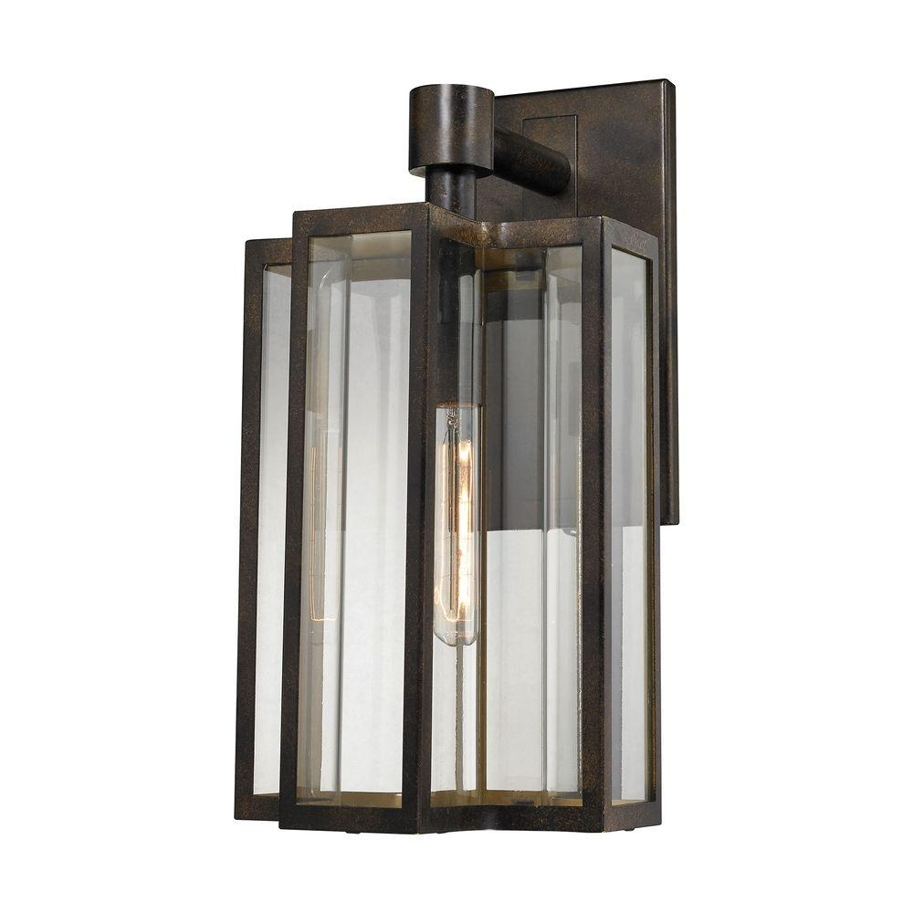 Inspiration about Titan Lighting Bianca 1 Light Hazelnut Bronze Outdoor Sconce Tn Pertaining To Outdoor Wall Lighting At Houzz (#3 of 15)