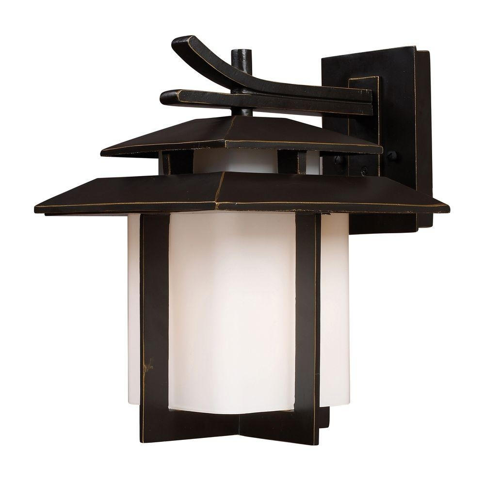 Inspiration about Titan Lighting Kanso Outdoor Hazelnut Bronze Wall Sconce Tn 5244 Pertaining To Japanese Outdoor Wall Lighting (#1 of 15)