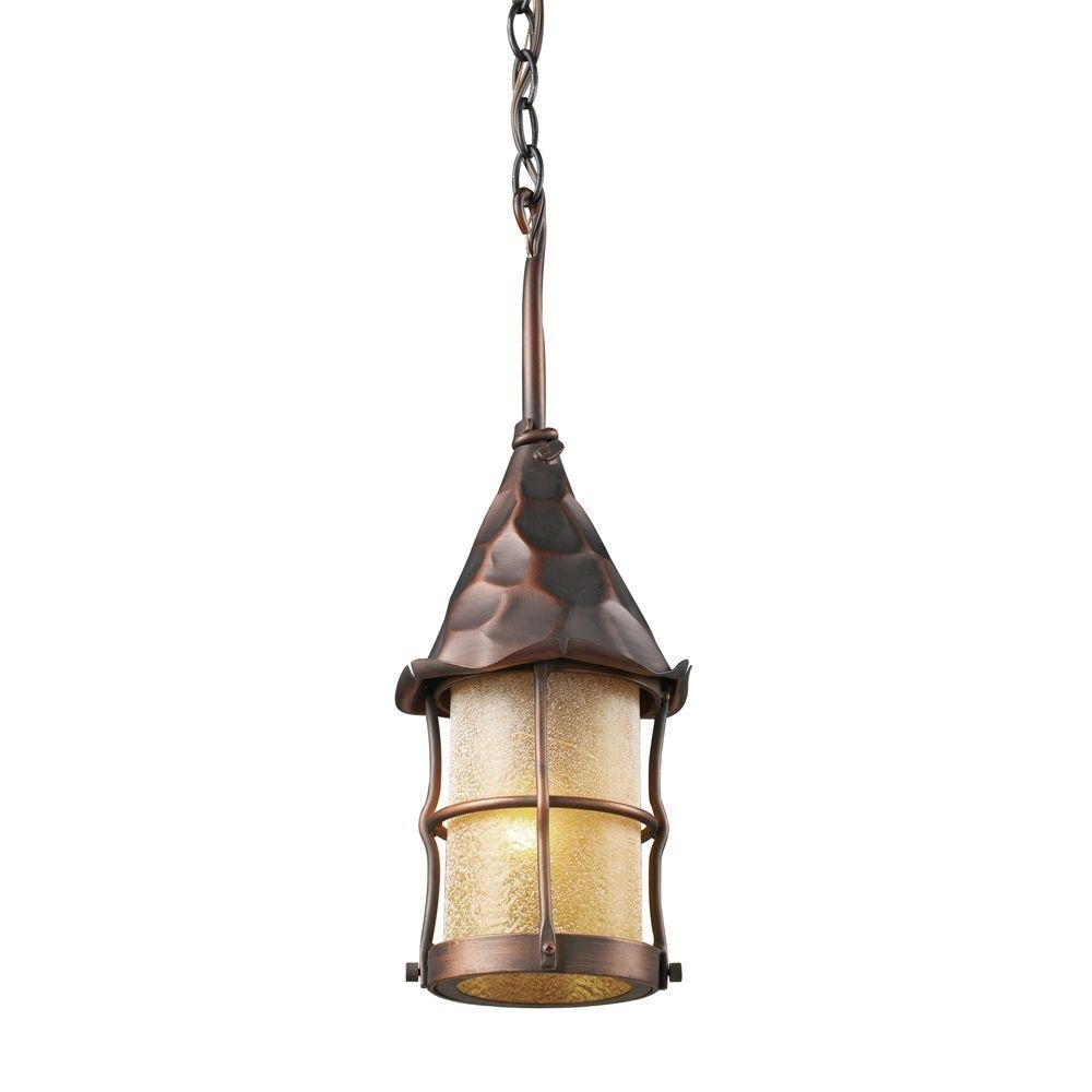 Inspiration about Titan Lighting Rustica 1 Light Antique Copper Outdoor Ceiling Mount Intended For Rustic Outdoor Lighting At Home Depot (#13 of 15)