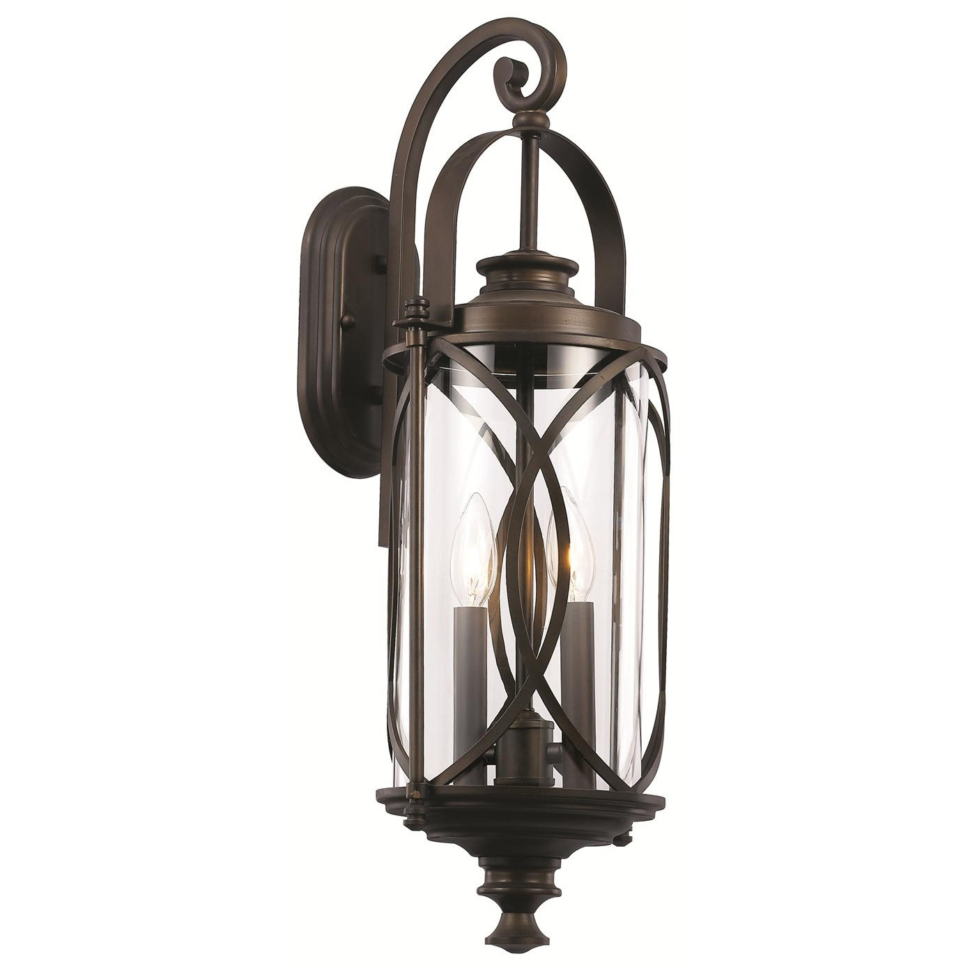 Inspiration about Trans Globe 40411 Rob Crossover 2 Light Medium Interlocked Wall Pertaining To Outdoor Wall Lantern By Transglobe Lighting (#7 of 15)