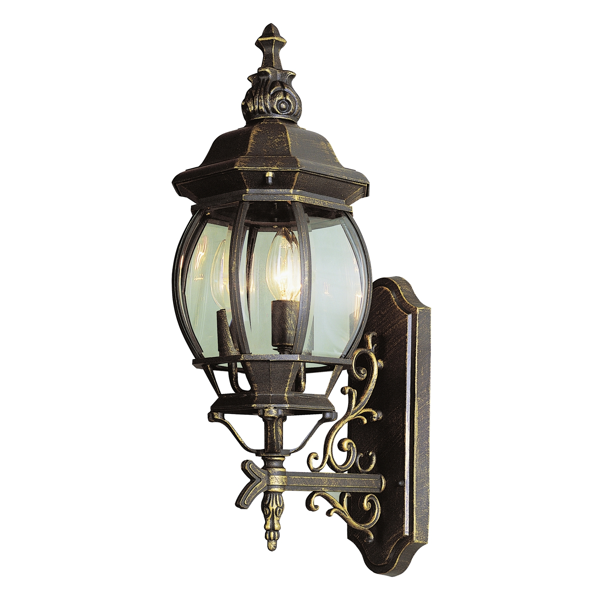 Inspiration about Trans Globe 4051 Bg Rochelle Black Gold Outdoor Wall Sconce: Littman Regarding Outdoor Wall Lantern By Transglobe Lighting (#8 of 15)