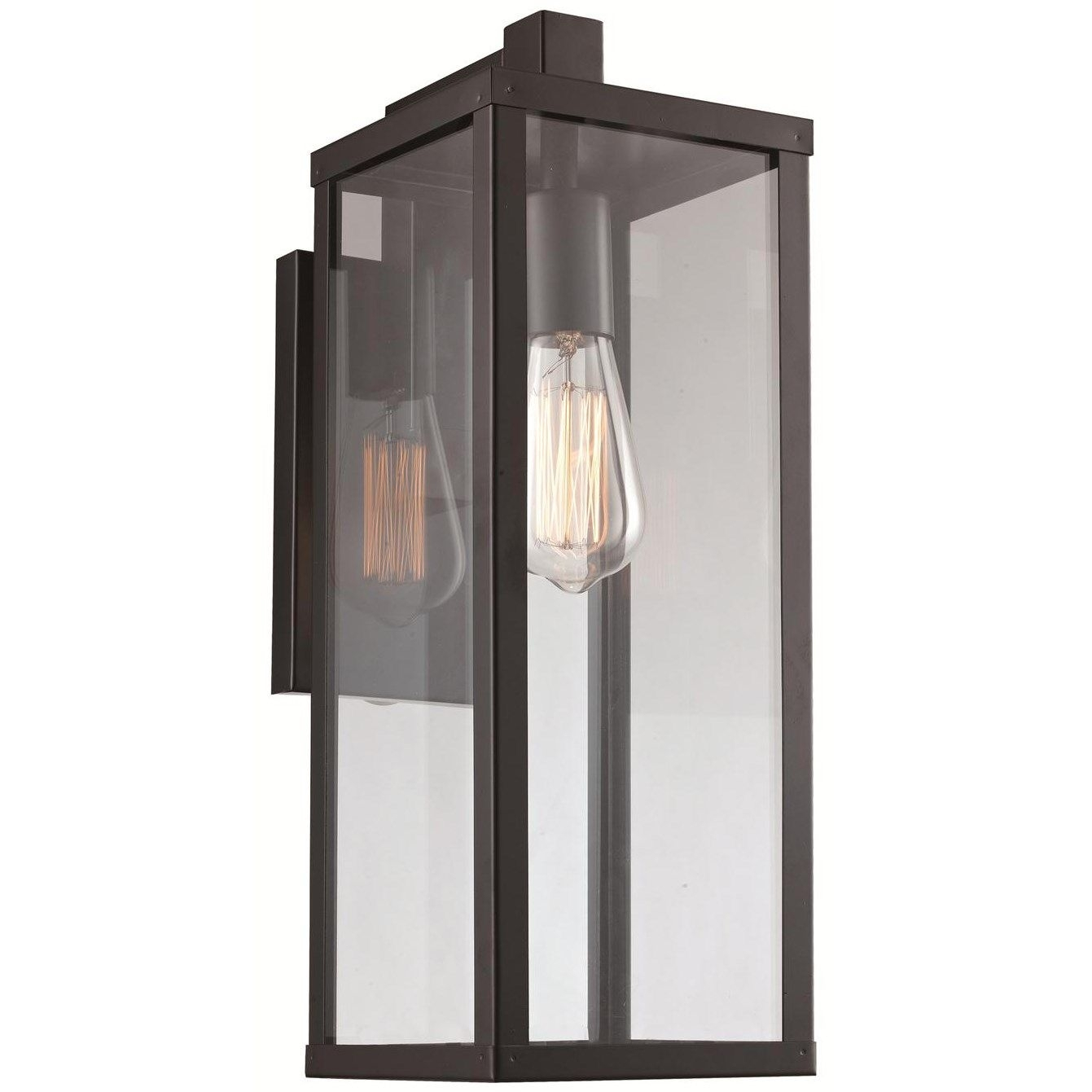 Trans Globe 40751 Bk Pocket 1 Light Down Medium Wall Lantern In With Modern Outdoor String Lights At Wayfair (#15 of 15)