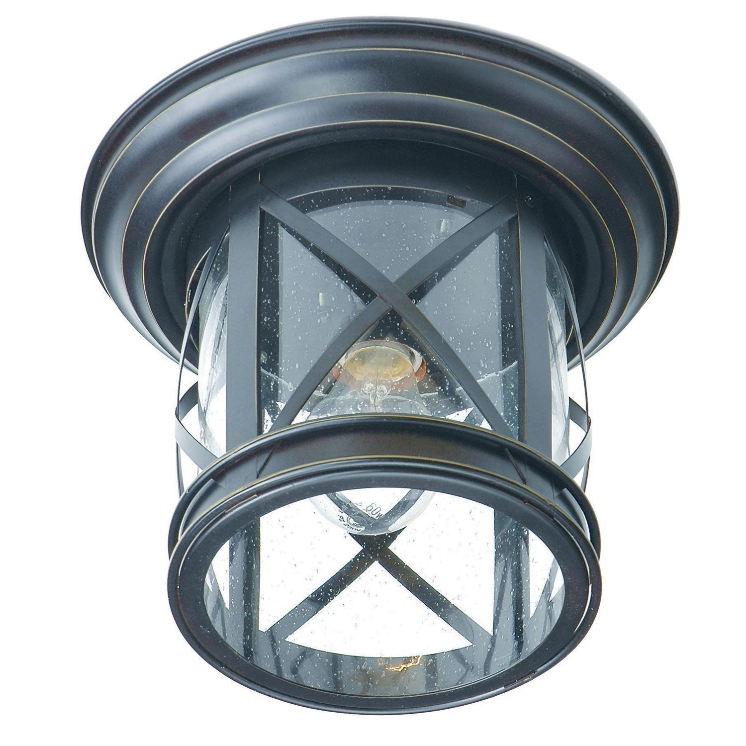 Inspiration about Trans Globe Lighting New England Coastal Rubbed Oil Bronze Outdoor Intended For Outdoor Ceiling Flush Mount Lights (#11 of 15)