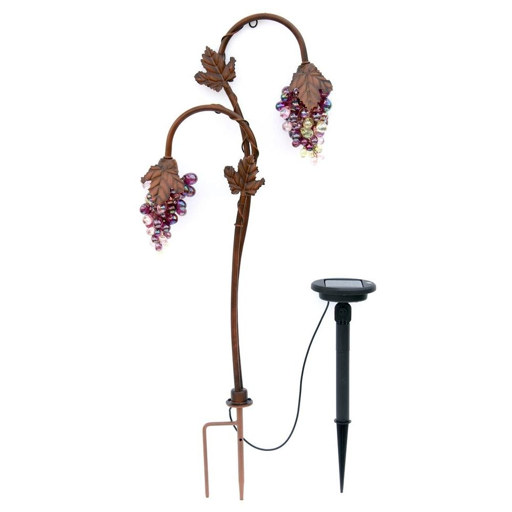Inspiration about Trendscape Twin Head Grape Lighting Bronze Solar Led Path Light Gx With Regard To Outdoor Hanging Grape Lights (#9 of 15)