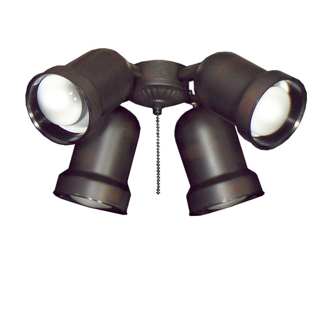Inspiration about Troposair 463 Spotlight Oil Rubbed Bronze Indoor/outdoor Ceiling Fan Within Outdoor Directional Ceiling Lights (#14 of 15)