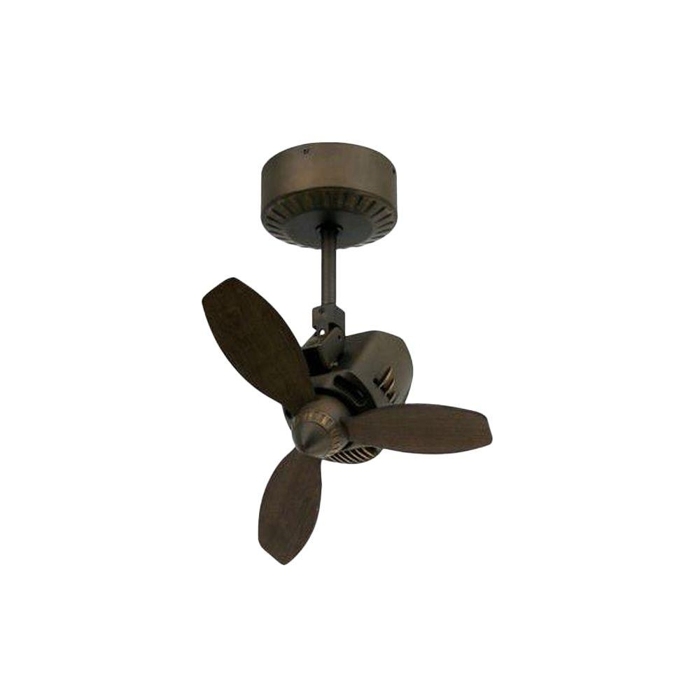 Inspiration about Troposair Mustang 18 In. Oscillating Rubbed Bronze Indoor/outdoor With Outdoor Ceiling Fans With Lights At Home Depot (#12 of 15)