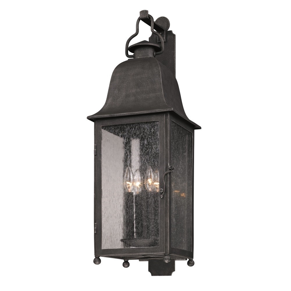 Troy B3213 Larchmont Large 4 Light Incandescent Outdoor Wall Sconce Regarding Large Outdoor Wall Light Fixtures (#14 of 15)