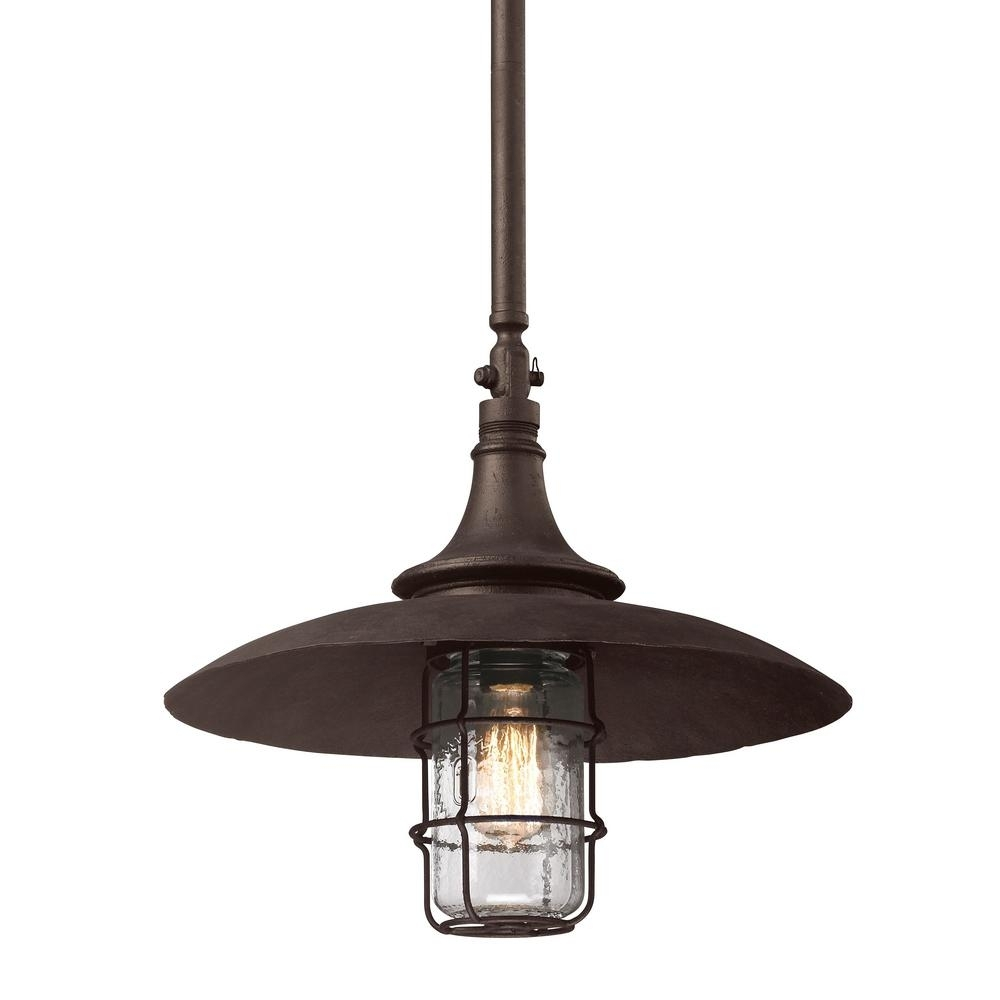 Inspiration about Troy Lighting Allegany 1 Light Centennial Rust Outdoor Pendant F3229 For Troy Outdoor Hanging Lights (#14 of 15)
