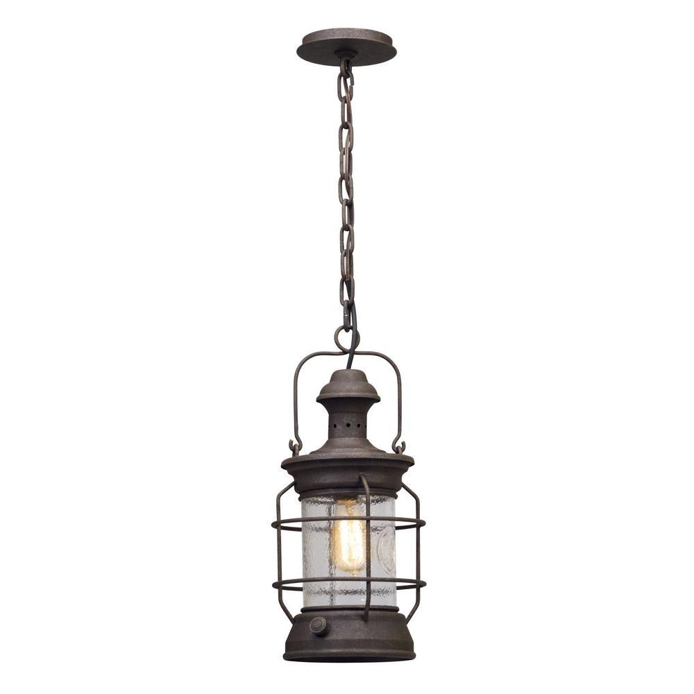 Inspiration about Troy Lighting Atkins 1 Light Centennial Rust Outdoor Pendant F5057 Regarding Troy Outdoor Hanging Lights (#9 of 15)