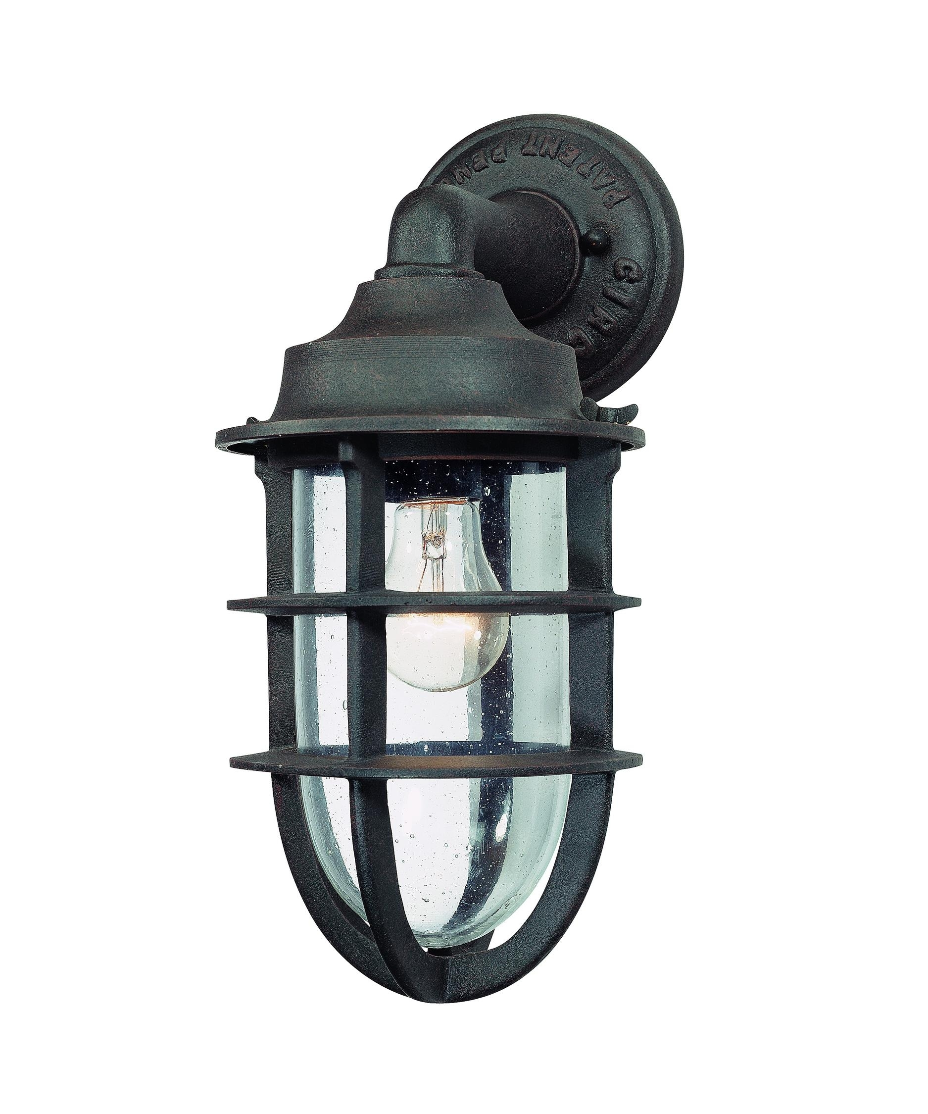 Inspiration about Troy Lighting B1866 Wilmington 7 Inch Wide 1 Light Outdoor Wall Intended For Outdoor Wall Lighting With Seeded Glass (#12 of 15)