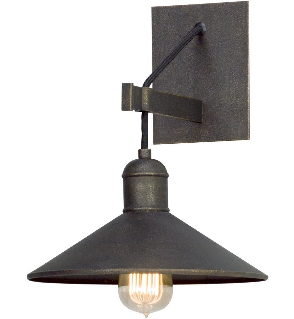Troy Lighting – B5421 – Mccoy Vintage Bronze 1 Light Wall Sconce Within Troy Lighting Outdoor Wall Sconces (View 4 of 15)