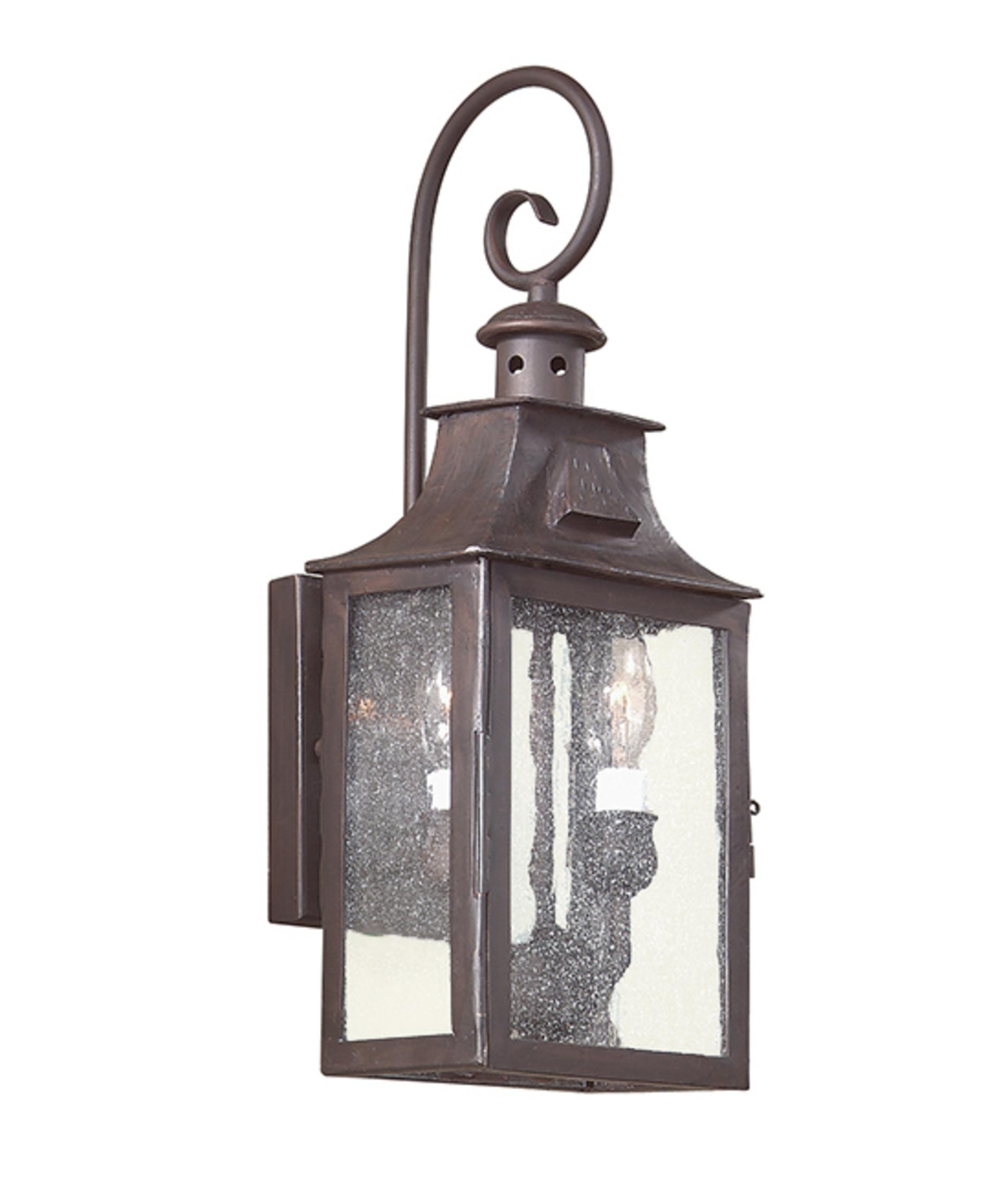 Inspiration about Troy Lighting B9001 Newton 7 Inch Wide 2 Light Outdoor Wall Light Throughout Outdoor Hanging Wall Lanterns (#6 of 15)