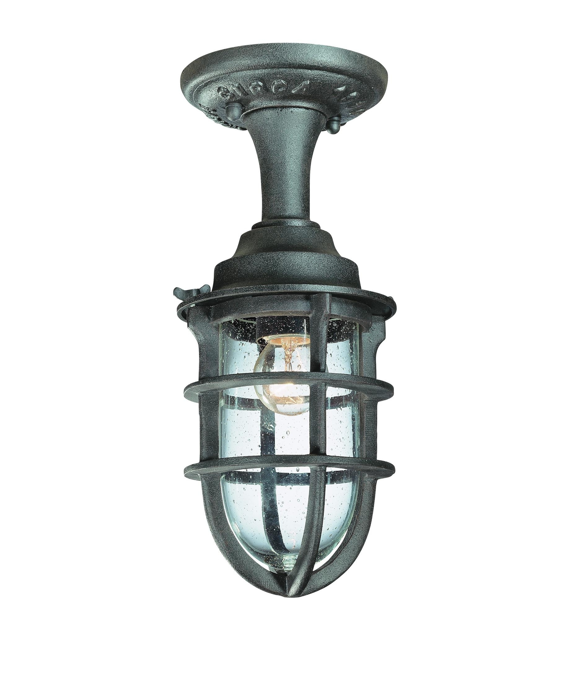 Troy Lighting C1863 Wilmington 6 Inch Wide 1 Light Outdoor Flush Pertaining To Outdoor Ceiling Nautical Lights (#15 of 15)