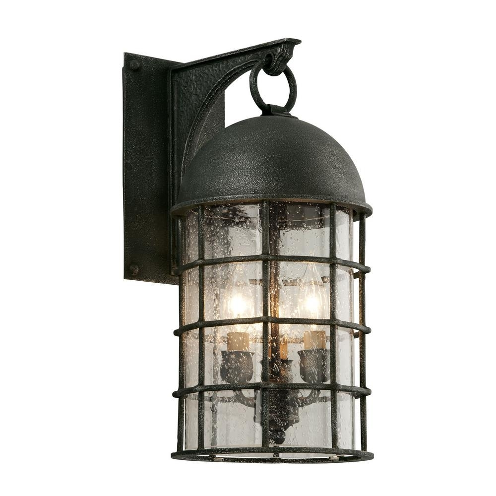 Troy Lighting Charlemagne 3 Light Aged Pewter Outdoor Wall Mount For Troy Lighting Outdoor Wall Sconces (#13 of 15)