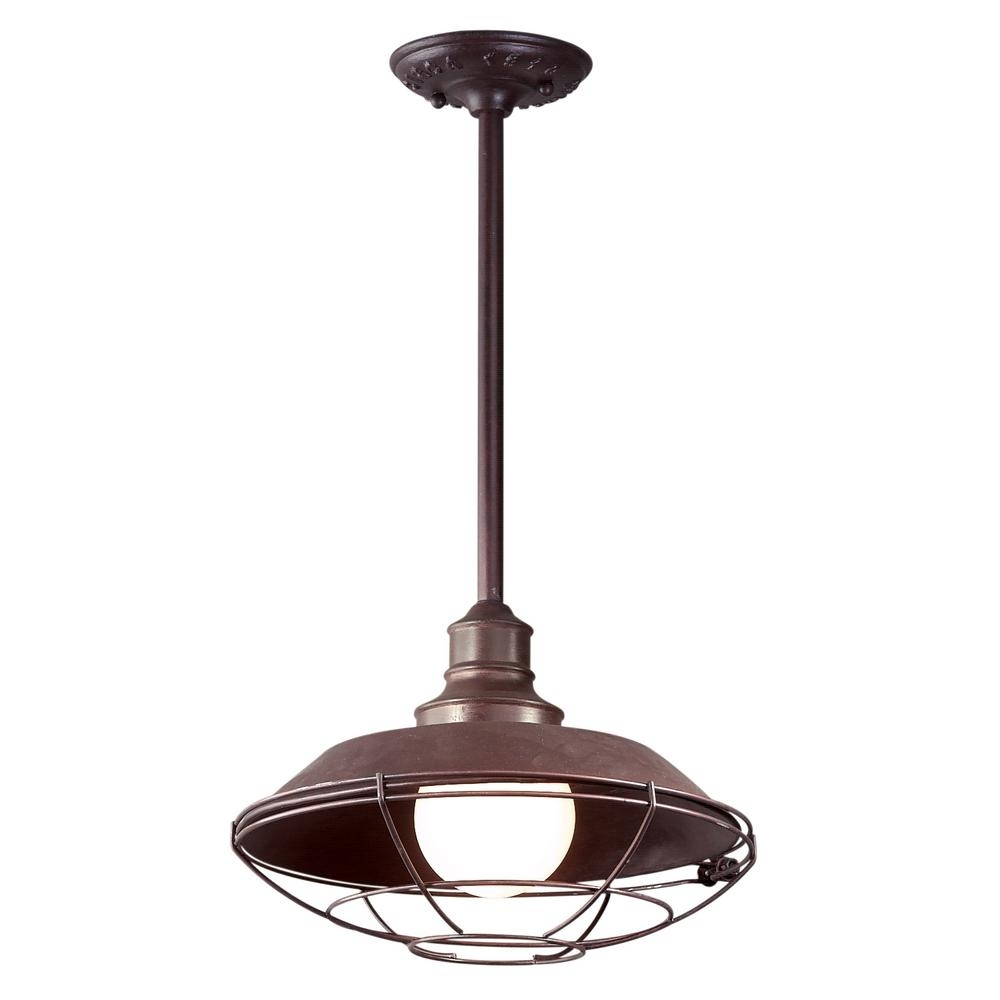 Inspiration about Troy Lighting Circa 1910 1 Light Old Rust Outdoor Pendant F9273Or Throughout Troy Outdoor Hanging Lights (#4 of 15)