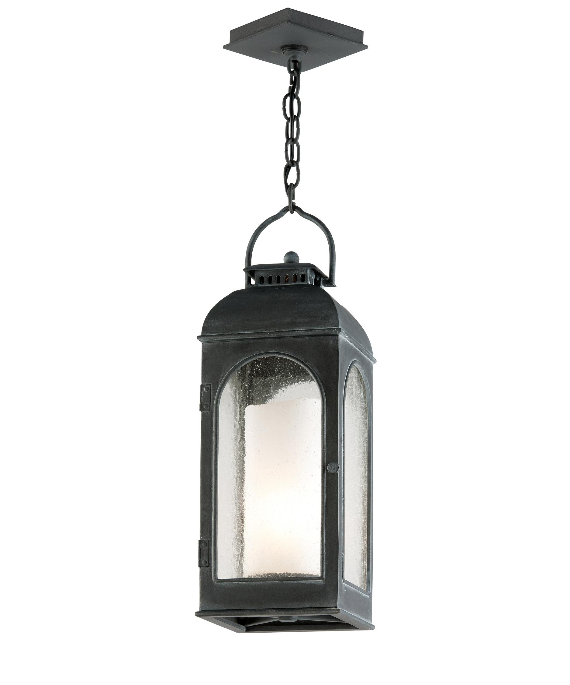 Troy Lighting F3287 Derby 8 Inch Wide 1 Light Outdoor Hanging Throughout Outdoor Hanging Lanterns For Candles (#12 of 15)