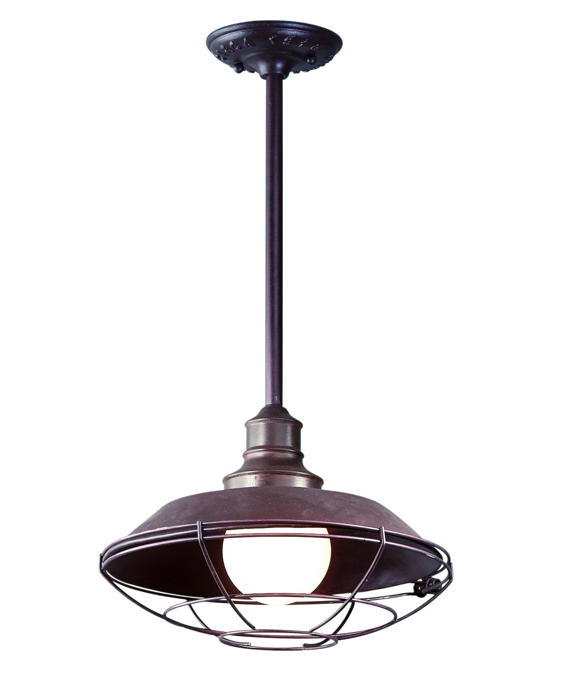 Troy Lighting F9273 Circa 1910 12 Inch Wide 1 Light Outdoor Hanging Inside Outdoor Rated Hanging Lights (#13 of 15)