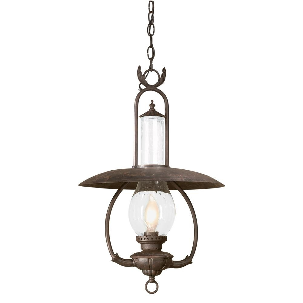 Inspiration about Troy Lighting La Grange 1 Light Old Bronze Outdoor Pendant Pertaining To Troy Outdoor Hanging Lights (#1 of 15)