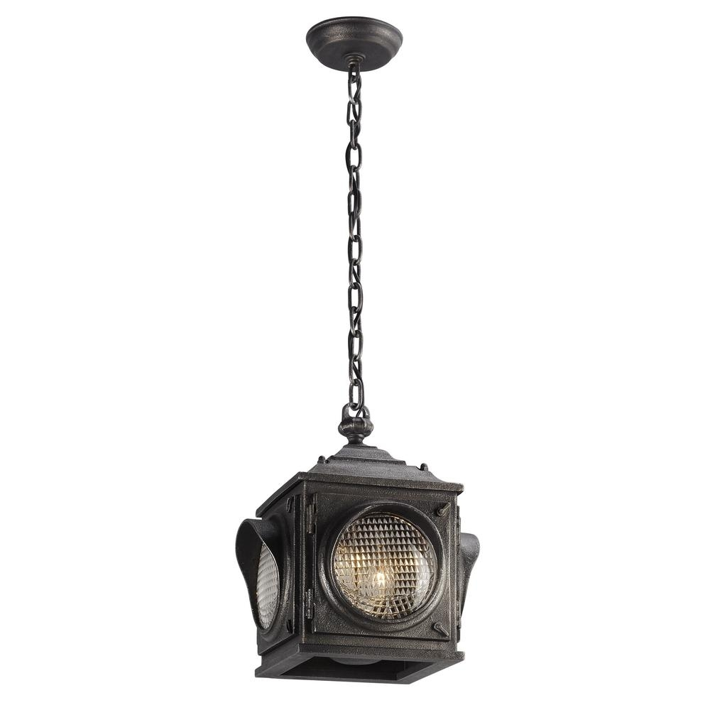 Inspiration about Troy Lighting Main Street 2 Light Aged Pewter Outdoor Pendant F4507 Inside Troy Outdoor Hanging Lights (#2 of 15)