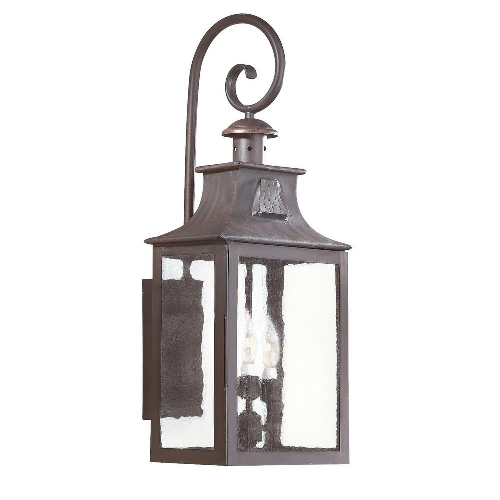Troy Lighting Newton 3 Light Old Bronze Outdoor Wall Mount Lantern With Troy Lighting Outdoor Wall Sconces (#15 of 15)