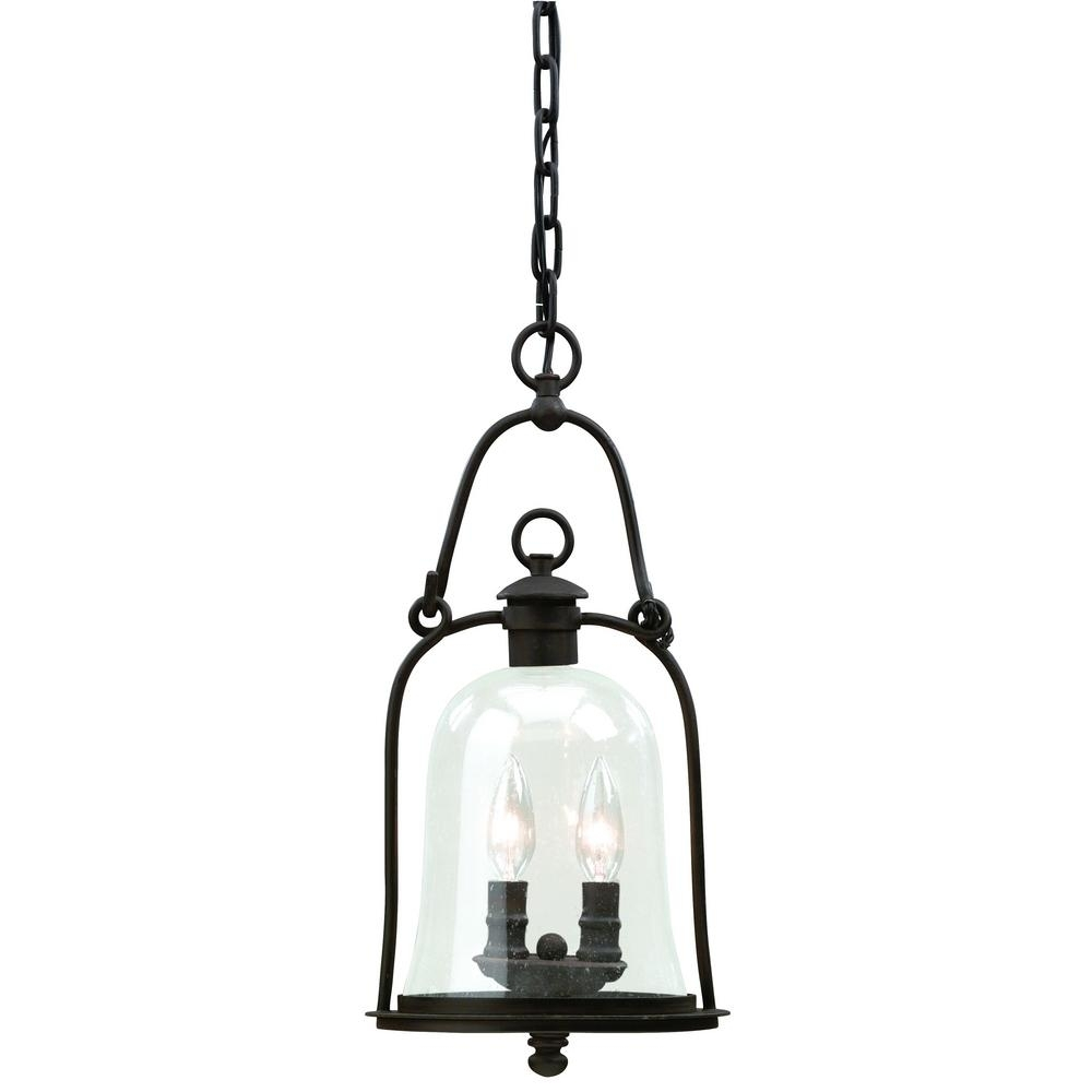 Inspiration about Troy Lighting Owings Mill 2 Light Natural Bronze Outdoor Pendant Within Troy Outdoor Hanging Lights (#10 of 15)