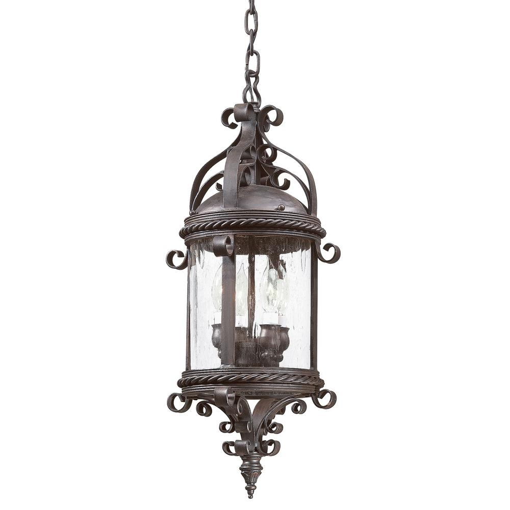 Inspiration about Troy Lighting Pamplona 4 Light Old Bronze Outdoor Pendant Fcd9124Obz With Regard To Troy Outdoor Hanging Lights (#15 of 15)