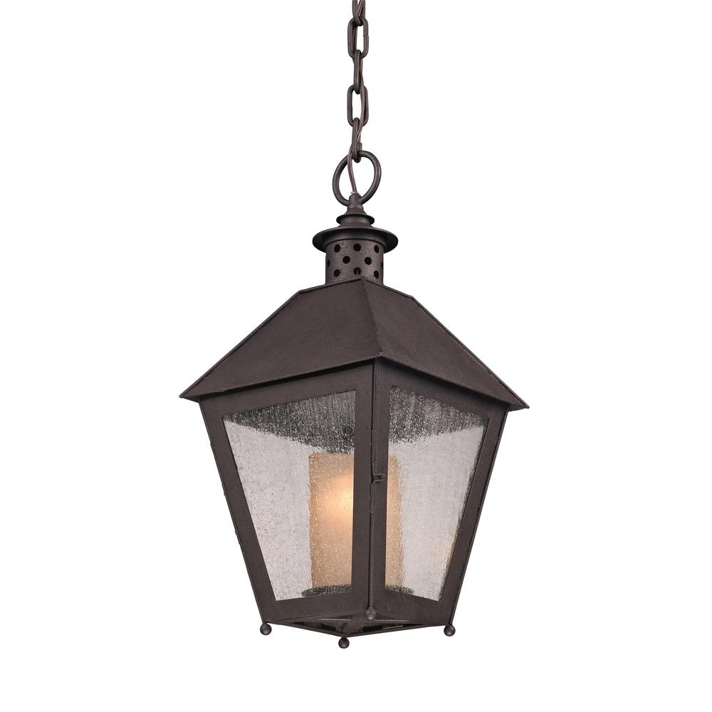 Inspiration about Troy Lighting Sagamore 1 Light Centennial Rust Outdoor Pendant F3297 With Troy Outdoor Hanging Lights (#5 of 15)