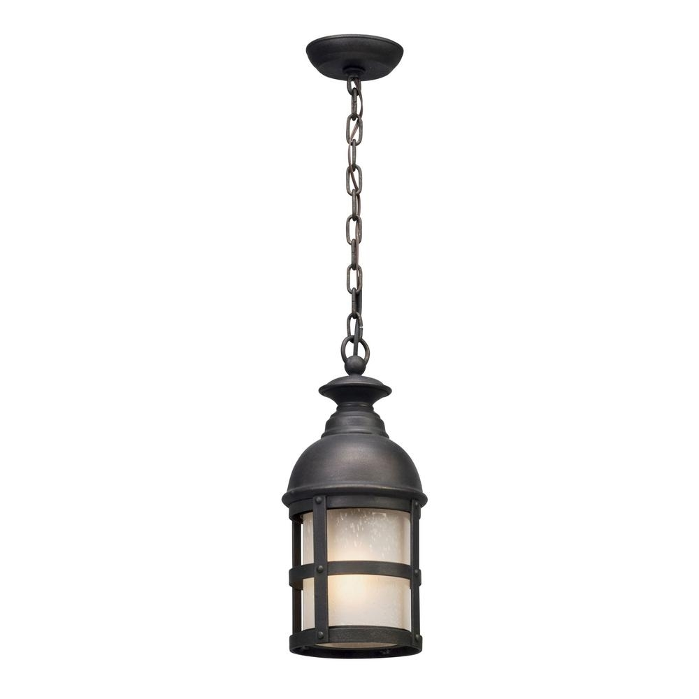 Troy Lighting Webster 1 Light Vintage Bronze Outdoor Pendant F5157 Pertaining To Vintage Outdoor Hanging Lights (#12 of 15)
