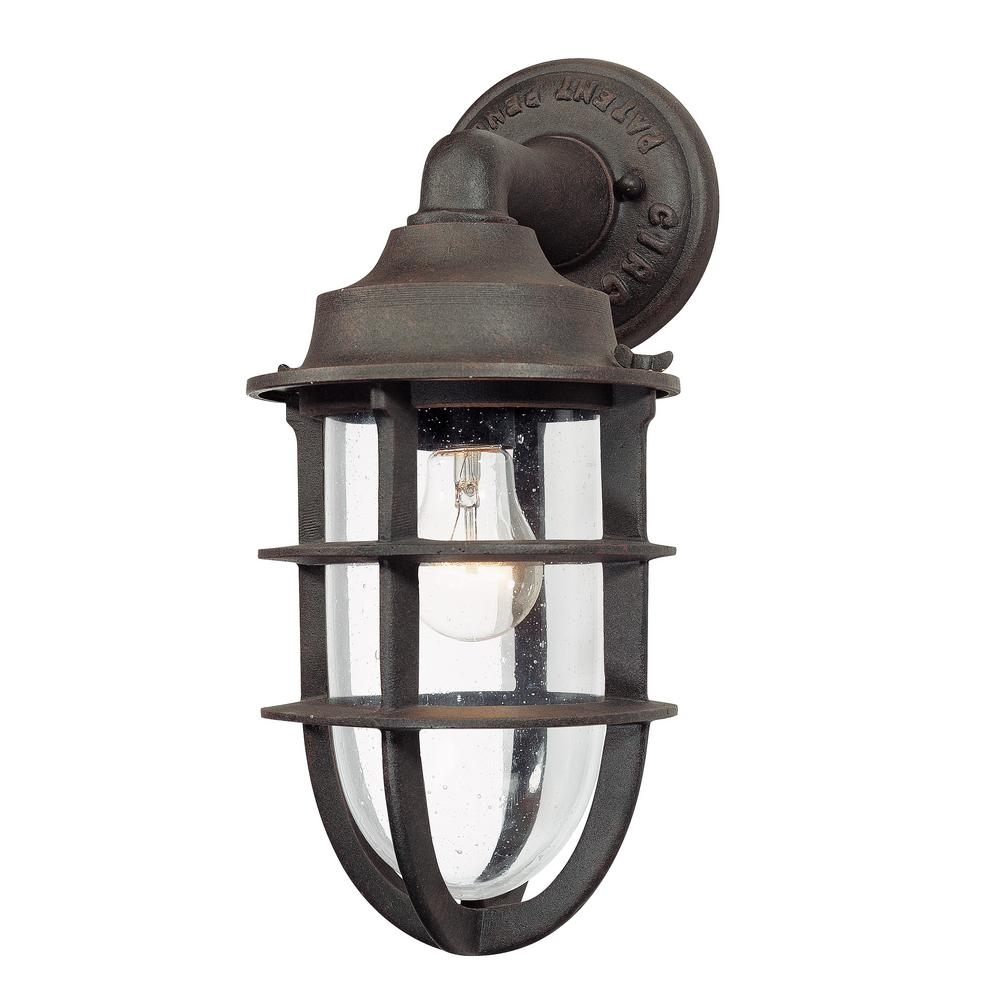 Inspiration about Troy Lighting Wilmington Nautical Rust Outdoor Wall Mount Lantern For Nautical Outdoor Wall Lighting (#2 of 15)
