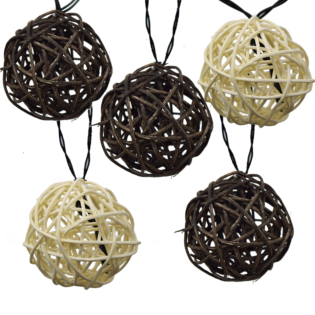 Inspiration about Twig Rattan Grapevine Balls – Led Solar Powered Intended For Outdoor Rattan Hanging Lights (#8 of 15)