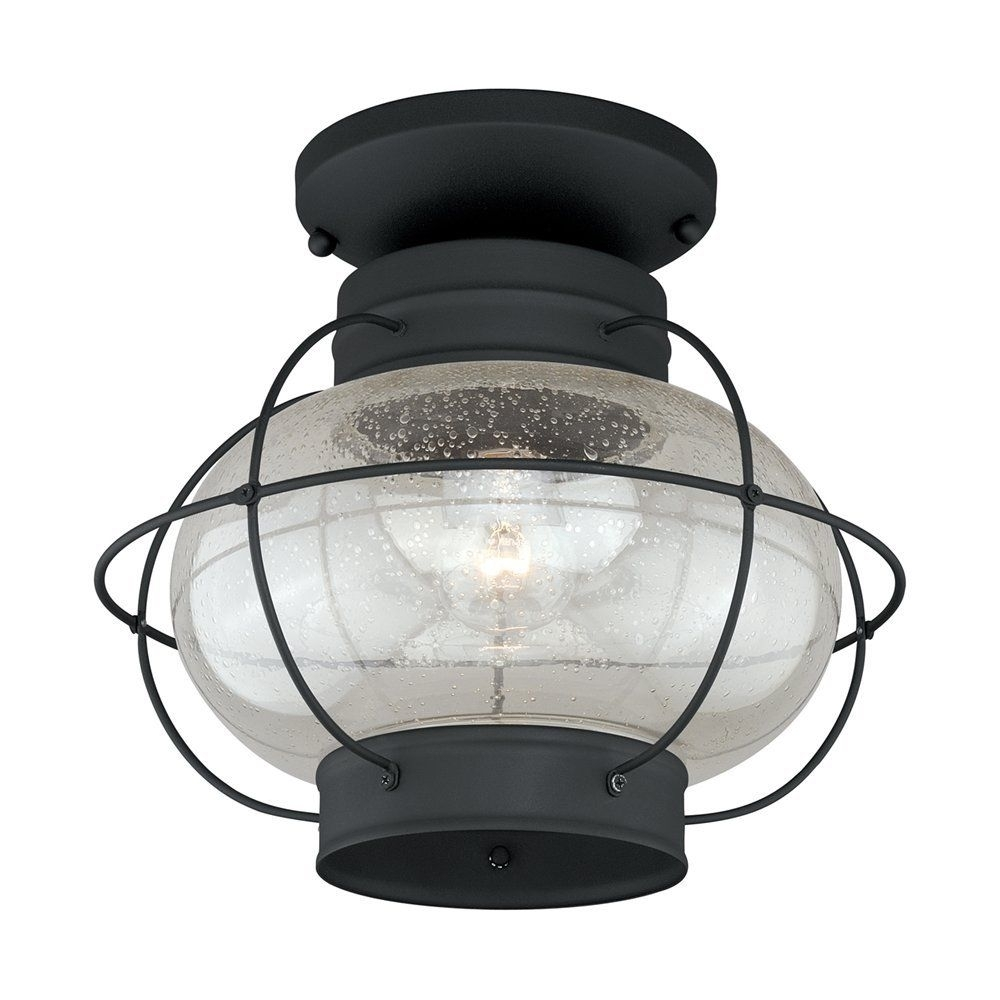 Inspiration about Vaxcel Lighting T0144 Chatham Outdoor Ceiling Light In Textured For Outdoor Ceiling Lights At Ebay (#15 of 15)