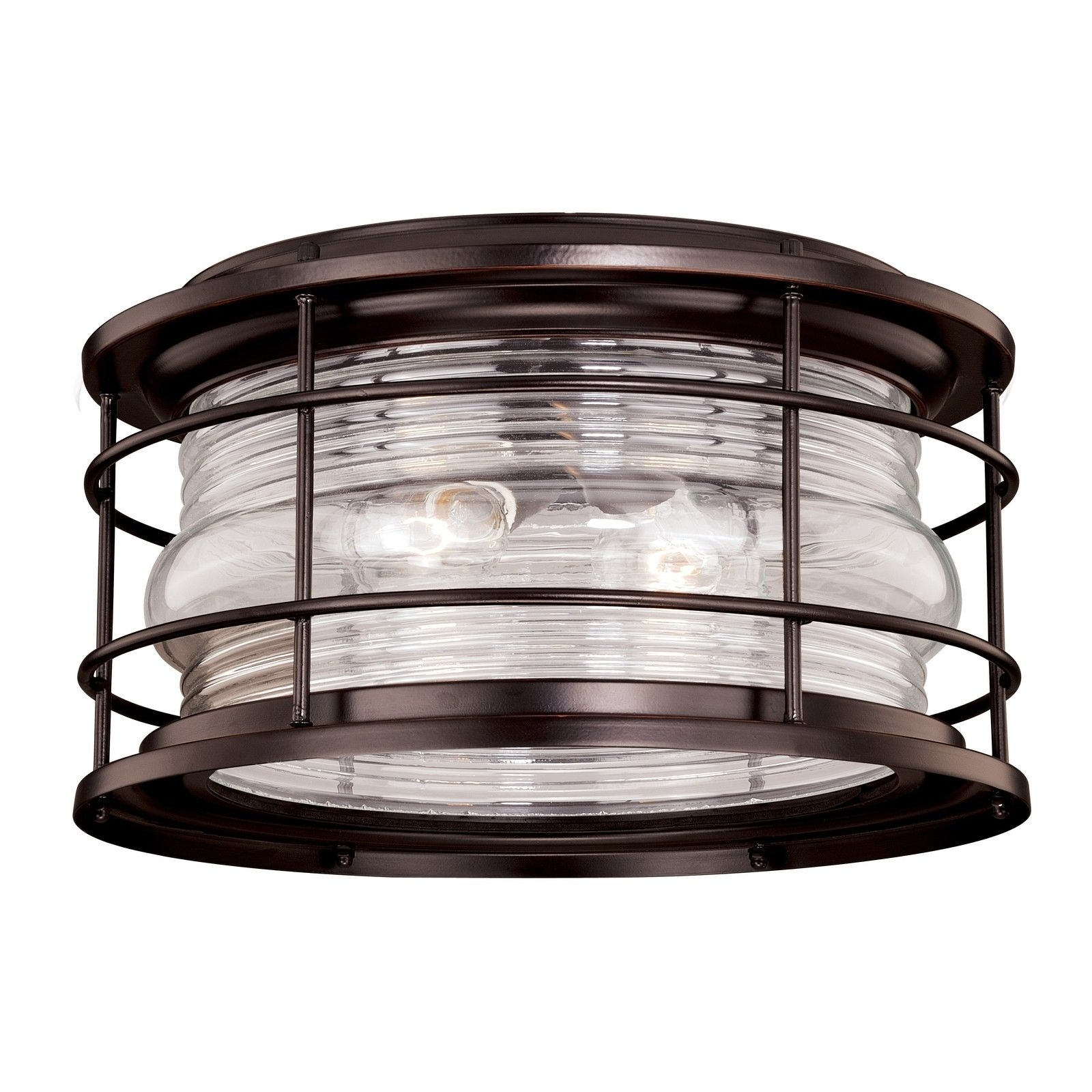 Vaxcel Lighting T0166 Hyannis Outdoor Ceiling Light In Burnished Intended For Outdoor Ceiling Lights At Ebay (#15 of 15)